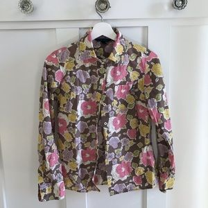 Boden floral button down top UK8 $15